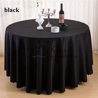 Wholesale Table Cloth Cheap Price - Cheap Price Black Color Round Shape Polyester Table Cloth For Wedding Free Shipping