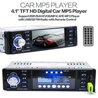 Barato Telhado Carro Hd Tv-New 12V Car MP4 MP5 Player Suporte Rear View Camera 4.1