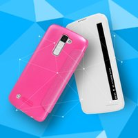 Wholesale Xperia P Phone Case - nillkin sony xperia p New Nillkin For LG K10 LTE K420N K430 K430ds F670 Case Hight Quality Smart Leather Phone Case Sleep