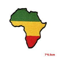 bordas de ferro bordado venda por atacado-Bandeira de África de Judá bandeira rasta rastafari reggae applique bordado patch de ferro-no pode reparar roupas remendo