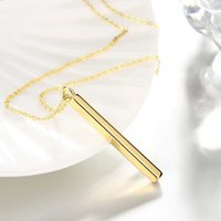 Wholesale Buy Plate Steel - Fashion Trendy necklace jewelry Metallic long and circle Pendant 18K Gold plated for women party Gift cheap buy wholesale
