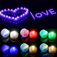Wholesale White Submersible Waterproof Led Light - LED Submersible Waterproof Tea Lights battery power Decoration Candle Wedding Party Christmas High Quality decoration light free shipping