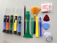 Wholesale Ipad4 Phones - New 15 in 1 Mobile Phone Repair Tools Screwdrivers Set   Spudger Kit For iPad4 iPhone 5 6 6plus WXSFT017 Free Shipping