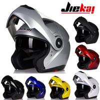 ingrosso caschi moto aperti-2016 Nuovo stile JIEKAI casco moto faccia aperta JK115 undrape faccia casco moto realizzato in ABS taglia M L XL
