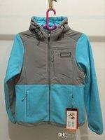 Wholesale Warmest Womens Ski Jacket - New Winter Womens Fleece Hoodies Jackets Fashion Ski Down Coats Outdoor Windproof Warm Sportswear Mens Kids Wholesale