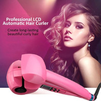 Migliore titanio Auto Curler Hair Curler Rotazione automatica Curling Iron Hairbrush Hair Combler Curler Set Wand Rollers Heat
