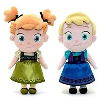 Wholesale Wholesale Black Baby Dolls - Frozen 30CM Plush Q Version Princess Elsa Anna Cute Baby Girls Dolls Toy Childhood Q Plush Princess Toys Kids Christmas New Year Gift