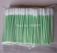 Wholesale Small Tips - Wholesale- 200 x Foam Tipped Injet small Cleaning Swabs for Roland Mimaki JV3 JV4 Mutoh dx3 dx3 dx4 dx5 Printer head Cleaning Swab small
