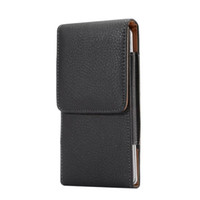 Wholesale Iphone 5s Leather Holster Cases - Universal Clip belt Litchi Leather Pouch Sleeve Case Hip Holster Hasp For iPhone 7 8 6 6S Plus 5S Samsung Galaxy S6 S7 Edge S5 Note 5 4 Skin