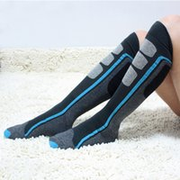 Wholesale Brown Wholesale Skates - Wholesale-1Pair USA Brand Compression Socks Men Long Snowboard Socks Male Thermal Thick Sport Socks Knee High Skate Running Socks