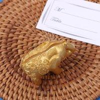 not belgesi fotoğraf tutucu toptan satış-Koltuk Klip Yaratıcı Altın Bebek Fil Adı Kart Notu Resim Memo Fotoğraf Tutucu Düğün dekor hediyeler Resepsiyon Favor 2 7dt F R