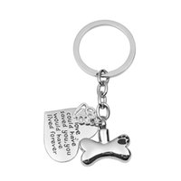 Wholesale Heart Locket Keychain - Stainless Steel Urn Paw in Bone Keychain Pet Paw Heart Pendant Memorial Ash Keepsake Cremation Jewelry