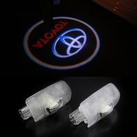 Wholesale Toyota Laser Light - 2pcs Door light replace For Toyota Highlander Camry corolla Reize crown Prado Prius Led door logo projector welcome light laser lamp