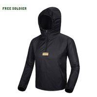 Wholesale Uv Light Clothing - Wholesale-FREE SOLDIER Trench coat men outdoor Popular skin clothing anti-uv Breathable ultra-thin light quick-drying