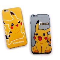 Wholesale pokemon iphone - 2016 New For iphone 7 Cartoon Cute Poke Go Case Pikachu Pokeball Cover Transparent TPU Protector Printed shell for iphone 7 plus 6s 5s