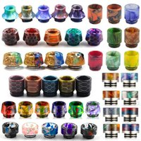 Wholesale Tips For Tanks - Honeycomb 810 Thread Resin Drip Tip Snake Skin Colorful E Cigarette Drip Tips for SMOK TFV8 TFV12 TFV8 Big Baby Tanks GOON Kennedy RDA