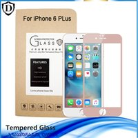 Wholesale iphone front glass colors - New 2.5D 3 Colors Full Cover Tempered Glass Screen Protector For iPhone 6 Plus 6s Plus 4.7 5.5 inch 9H Film with retail package