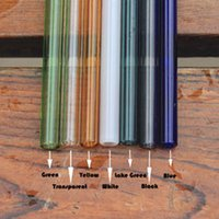 Wholesale Caliber Wholesale - Reusable Black Glass Drinking Straws Colorful 1.5mm Thick Straws Use For Wedding Birthday Party Bar Caliber 8mm Length 7 inch free shipping
