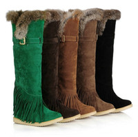 Wholesale wholesale woman boots - Tassel plus-size boots Classic Women snow Knee cony hair Boots