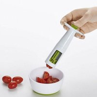 Wholesale Cutter Baby - Good Grips Grape Tomato and Cherry Slicer cutter Eco-Friendly Kitchen Vegetable Fruit Cutter Tools Auxiliary Baby Food cutter