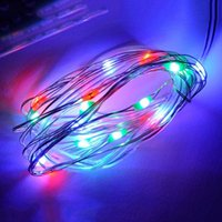 Atacado- Decoração Mabor Colorful String Lights 4M LED Bulb Silver Wire Fairy String Light 3AABattery Flicker