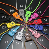 Wholesale Iphone5 Sport Strap - 2016 Fashional sport lanyard rotatable & detachable cell phone charms straps nylon lanyards necklace 50cm for ipad mini iphone5 6 samsung s7