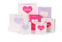 Wholesale Forever Bags - Hot Forever love gift bag stock for Valentine's day paper shopping bag with handles wholesale ELB170