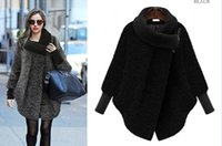 Wholesale winter new women s high necked wool thick woolen coat long sleeved long sleeve loose woolen coat