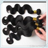 Wholesale Long 28 Inch Hair Extensions - Peruvian Soft Mink Virgin Human Hair Extension Body Wave Mixed long length Remy Hair Weave 50g pc 8pcs lot #1b Free Shipping DHL
