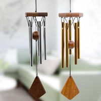 Wholesale Wall Hanging Bell - Antique Amazing Grace Deep Resonant 5 Tube Windchime Chapel Bells Wind Chimes Door Wall Hanging Home Decor