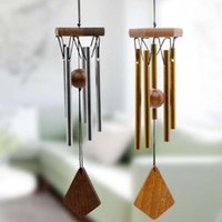 Antique Amazing Grace Deep Resonante 5 tubo Windchime Chapel Bells Wind Chimes Porta a muro appeso Decorazione per la casa