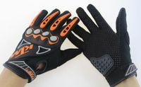 мото гоночные перчатки оптовых-Новый профессиональный спорт полный палец KTM кожаные перчатки мотоцикла guantes moto велоспорт мотокросс перчатки guantes ciclismo KTM гонки перчатки