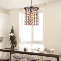 lampara de perla negra al por mayor-Navidad nueva venta caliente Morden contemporáneo G9 220V o 110V Crystal Pendant Light en 1 lámparas