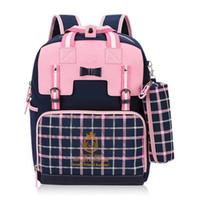 schöne mädchenschultaschen großhandel-Mädchen Rucksack Orthopädische Schultasche Rucksäcke Grundschule Bookbag Schönes Geschenk für Kinder neue Trem