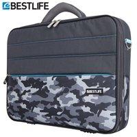 Wholesale Tablet Case Shoulder - Wholesale- BESTLIFE 2016 Business 15.6 Laptop Bag Case Men Computer Shoulder Notebook Tablet Briefcase With Stripe Belt Office Worker Use