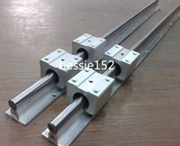 6pcs SBR12-330 / 500 / 1050mm 12MM entièrement soutenu LINEAR RAIL SLIDE SHAFT + 12pcs SBR12UU Bearing Blocks