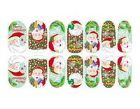 Compra Chiodo Natale Allegro-Nuovo Nail Merry Christmas Art Sticker trasferimento dell'acqua punte decalcomanie