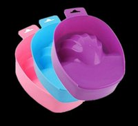bols de trempage à la main achat en gros de-Nettoyant pour les mains Nail Art Soak Bowl Salon Nail Spa Bain Manucure Outils