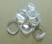 nagelkunst glitzer container großhandel-500 teile / los Schnelles Verschiffen Großhandel 5G 5 ml Nail Art Glitter Staub Pulver Leere Fall Box Klare Töpfe Flasche Container Glas