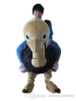 Wholesale Ostrich Mascot Costumes - SX0723 With one mini fan inside the head a brown ostrich mascot costume for adult to wear