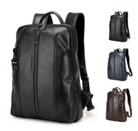Wholesale Men S Leather Backpacks - 2016 Top Grade Backpack Bag for Men and Women College Unisex stu*s*sy plain Print Shoulder Bag PU Leather Out097