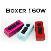 BOXER 160W Kit TC 18650 Battery Boxer Box Mod BOXER TC160 originais E-cigs Vapor Mod com TC VV VW Suporte 0.06ohm Bobinas Kits E-cigarro