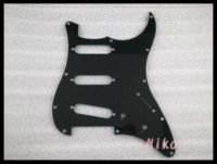Wholesale Strat Pickguard Ply - New Black 3 PLY Electric Guitar Pickguard For Fender Strat Style Electric Guitar Free Shipping Wholesales