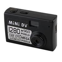 grabador de video en tiempo real al por mayor-5MP HD 1280 * 960 Cámara grabadora de video Mini DV Cámara digital DV Videocámara DVR Grabación de video en tiempo real