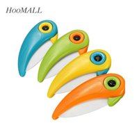 Wholesale Colourful Birds - Mini Bird Ceramic Knife Pocket Folding Bird Knife Fruit Paring Knife Ceramic With Colourful ABS Handle Kitchen Tools Gadget order<$18no trac