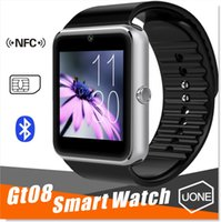 Wholesale Tracker For Wrist - GT08 Bluetooth Smart Watch DZ09 Smartwatchs with SIM Card Slot and NFC Health for Android Samsung and IOS Apple iphone Smartphone Bracelet