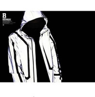 Wholesale reflective coats - high quality Casual Mens Jackets Hip-hop Winter Waterproof 3m Reflective Jacket Men Clothes Outdoor Baseball Coat Windbreaker