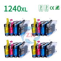 Wholesale Wholesale Brother Ink Cartridges - ZH 16 PCS Ink Cartridges LC1240 4B 4C 4Y 4M Compatible For Brother LC1240 MFC J5910DW J6710DW J6910DW J825DW Printer