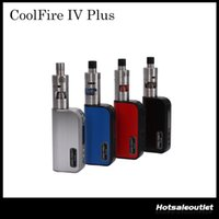 Wholesale apex white - Authentic Cool Fire IV Plus Starter Kit with iSub Apex Tank iTaste Coolfire IV Plus Kit 70W 3300mAh Kit