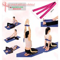 Wholesale Hot promotion Fitness items cotton Yoga belts Stretching Belt Yoga rope Yoga accessories
